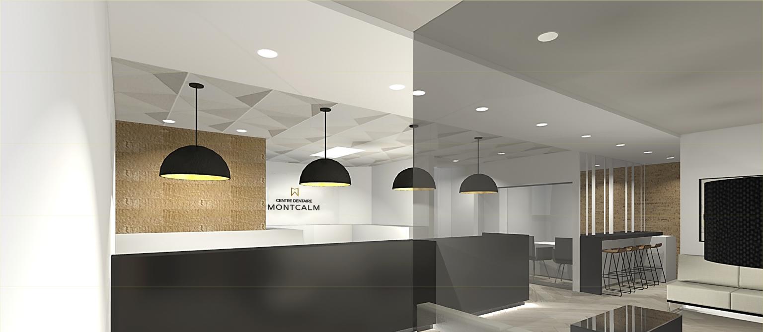 image 3d de la nouvelle clinique dentaire Montcalm
